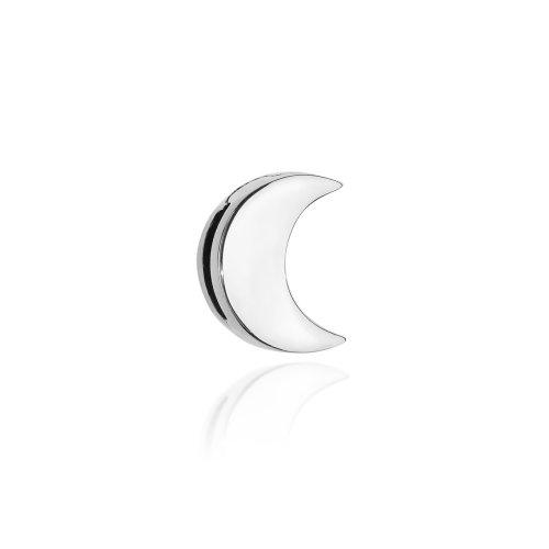 zawieszka srebrna w kształcie księżyca